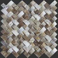 Wholesale arc 3D unique stone mosaic tiles fossil petrified wood mosaic tile 91 from china suppliers