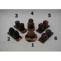 Wholesale PALM WOOD ITEMS PALM WOOD PEPPER&SALT CHECKER SET from china suppliers