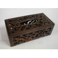 Buy cheap TEAKWOOD ITEMS TISSUE KEEPER FRETWORK-L 1 from wholesalers