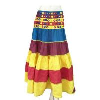 Buy cheap Tribal Cotton Skirt with mirror decoration from wholesalers