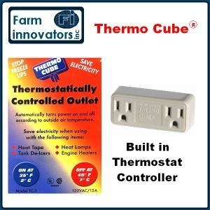 China / BATH / GARAGE THERMO-CUBE THERMOSTATICALLY CONTROLLED OUTLET