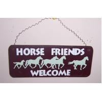 Buy cheap 4611 - WOODEN WELCOME PLAQUE WITH HORSES (8.5