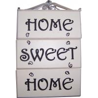 Buy cheap 4604 - WOOD PLAQUE HOME SWEET HOME ( 2 ASST) from wholesalers