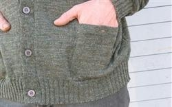 Quality Clothing WoolyWarm Buttnup Tweed Sweater - Derby Green for sale