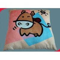 Wholesale Personalized Double Side Printed Micro Plush Plain Graphic Decorative Pillow Fabric Throw from china suppliers