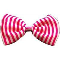 Costumes Dog Bow Tie Stripes Pink