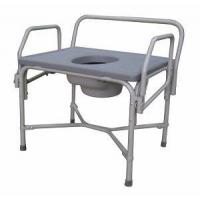 Buy cheap Bathroom Safety Aids Bariatric Drop Arm Steel Commode from wholesalers