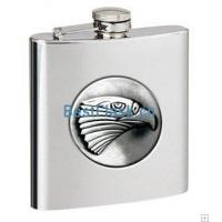 China Steel hip flask with logo on sale
