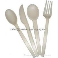 Buy cheap Biodegradable Cornstarch PLA Cutlery from wholesalers