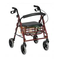 Buy cheap Rollator Aluminum rollator with folding footrest from wholesalers