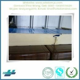 Quality steel sandwich panel roof & wall good quality insulated PU wall panel for prefab building for sale