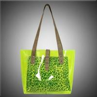 Wholesale Clear PVC Beach Bags with Animal Printing Inner Pouch from china suppliers