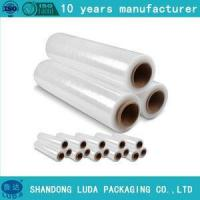 China Film blue lldpe transparent shrink wrap pallet thickness stretch film on sale