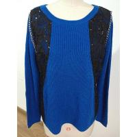 Wholesale 2016 Fashion Knitted Top With Sequin And Chain On Front from china suppliers