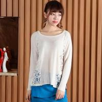 Buy cheap 2016 Spring Hollow Sweater Pullover With Lace from wholesalers