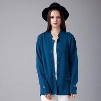 Buy cheap 2016 Classic Dark Blue Ladies Knitted Sweater Cardigan from wholesalers