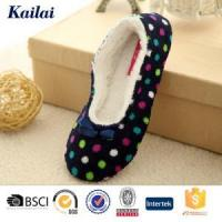 Buy cheap Dance Shoes Printed Coral Fleece Bowknot Dance Shoes from wholesalers