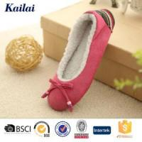 Buy cheap Dance Shoes Suede Fabric Bowknot Ballet Shoes from wholesalers