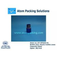 Wholesale 25ml Clear Blue Round Medicine Bottle from china suppliers