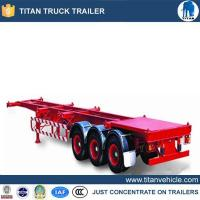 China Container trailer chassis Product Name3 axles 40ft shipping container trailer for sale on sale