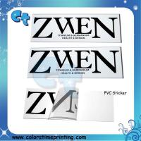 Pvc transparent clear adhesive stickers