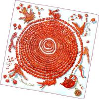 Wholesale Silk Twill Screen Print Scarf from china suppliers