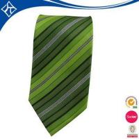 Wholesale high quality custom color green stripe tie from china suppliers