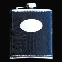 Wholesale stainless steel hip flask, 7OZ, LEATHER BLACK from china suppliers
