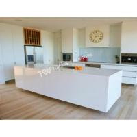 China corian solid surface glacier white kitchen bench top(TPKT0017) on sale