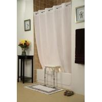 China Getting Ready Home Bench Buddy Hookless Shower Curtain Simplicity on sale