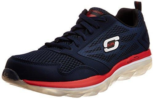 Quality Skechers Sport Men's Skech Air Oxford Sneakers,navy/red,11 for sale