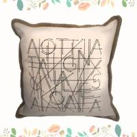 Buy cheap Simple Letter Printed Digital Cushion Cover Customized Home Decorative Pillow from wholesalers