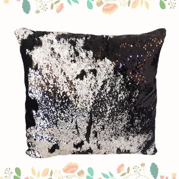 China New Hot Sale PVC Sequin Throw Pillow For Home Used Spangle Cushion