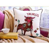 China Constellation Series Taurus Embroidery And Printed Home Decoration Pillow Case Cushion Cover on sale