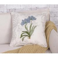 Buy cheap Country Style Linen Cotton Fresh Embroidery Room Decor Cushion from wholesalers