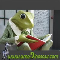 Wholesale The desinger of cartoon mascots big size frogman with sit down pose from china suppliers