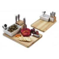 Wholesale Picnic at Ascot Buxton Bamboo Cheese Board Set with 4 Tools from china suppliers