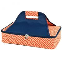 Wholesale Picnic at Ascot Insulated Casserole Carrier to keep Food Hot or Cold- Orange/Navy from china suppliers