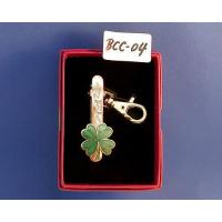 Wholesale Key chain Cloisonne four-leaf clover keyring clip from china suppliers