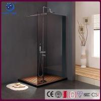 China Frameless Walk in Shower Enclosure, Single Panel Bathroom Shower Stall,Grey Glass ,33 X76, Chrome on sale