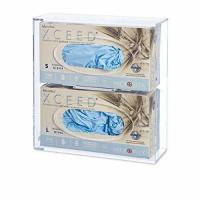 China Double Side-Loading Glove Box Dispenser Holder, Clear Acrylic on sale