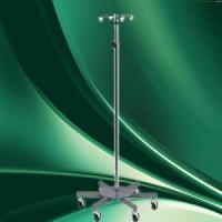 Wholesale Rolling 2-Hook 4-Leg Chrome Plated IV Stand Pole Wheeled I V Poles I.V. Cart from china suppliers