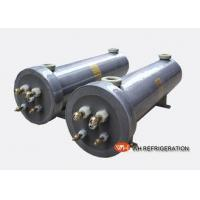 China Swimming Pool Heat Pump Heat Exchanger , Vertical Shell And Tube Condenser on sale