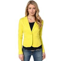 Wholesale Suiting & Blazers Women's Simple Tailored Single Button Slim Boyfriend Office Blazer Jacket from china suppliers