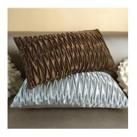 Wholesale Cushion Quilted coffee/brown color Z-fold luxury decoration pillow cushion cover for sofa bedding from china suppliers