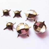 Buy cheap Antique Brass Studs with Faceted for Leather from wholesalers