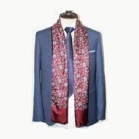 Wholesale Latest design custom printed paisley mens silk scarfs from china suppliers