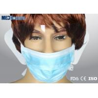 Disposable face mask with shield 4 open ties fixing anti fog goggles attached