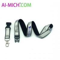 Reflective Lanyard With Disconnect Buckle Lobster Claw