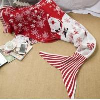 Buy cheap 2016 hot Christmas throw blanket Xmas mermaid tail knitted blanket from wholesalers